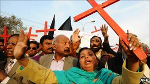 Pakistani Christians rally for Asia Bibi in Lahore on Christmas Day