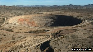 Casa Grande copper mine in Arizona, US