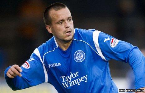 St Johnstone striker Steven Milne