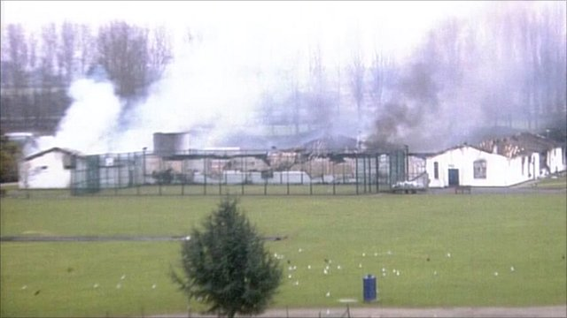 Smoke billows from Ford open prison