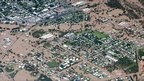 Aerial view of town of Emerald, 31 December 2010