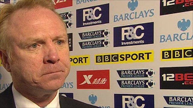 Birmingham manager Alex McLeish