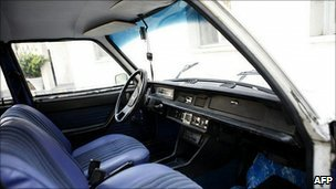 President Ahmadinejad's Peugeot 504, undated photo.