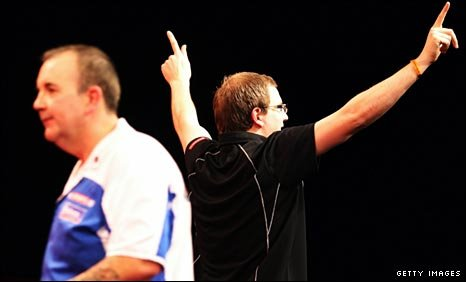 Phil Taylor and Mark Webster