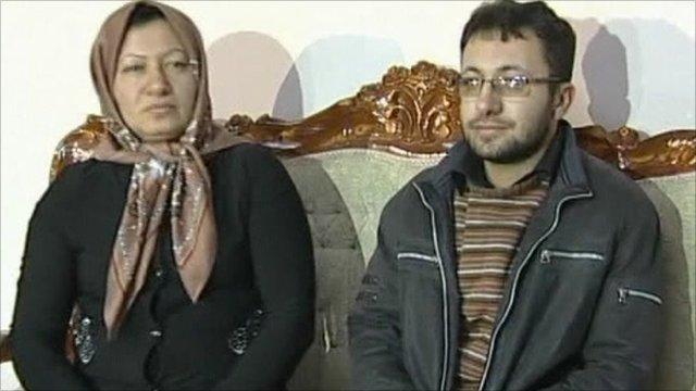 Sakineh Ashtiani and son Sajjad Ghaderzadeh