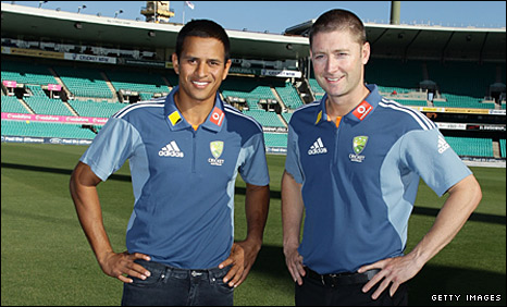 Usman Khawaja (left) and Michael Clarke