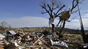 Tornado damage, Arkansas (31 December 2010)
