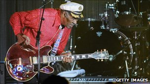 Chuck Berry on stage in 2009