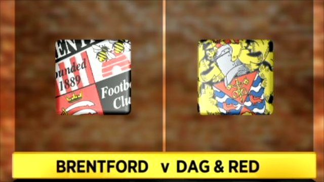Brentford 2-1 Dag & Red