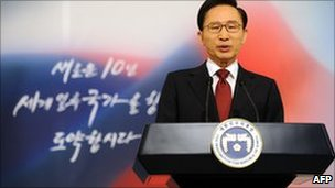 South Korean President Lee Myung-bak, 3 January 2011
