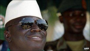 Gambia's President Yahya Jammeh (file photo)