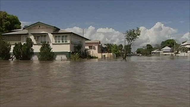 Home in Rockhampton flooded