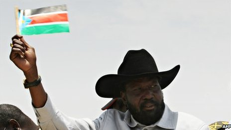 Salva Kiir campaigning in for Aril 2010 election