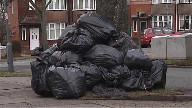 A pile of rubbish in Birmingham