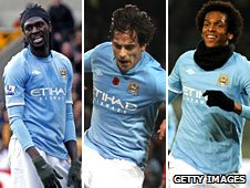 Adebayor, Roque Santa Cruz and Jo could all be on their way out of Eastlands