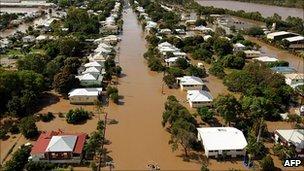 Floods in Rockhampton. 3 Jan 2010