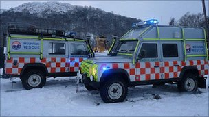 Mountain rescue vehicles