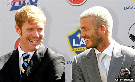 Alexi Lalas and David Beckham