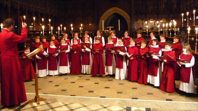 Choristers at Ripon Cathedral