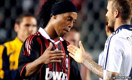 Ronaldinho and David Beckham