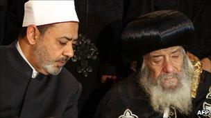 Pope Shenouda and al-Azhar head
