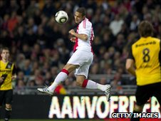Ahmed 'Mido' Hossam in action for Ajax Amsterdam