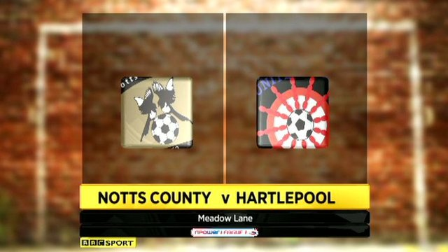 Notts County v Hartlepool