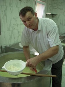 Cheese maker Mario Pecnik
