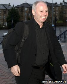 Aberdeen chairman Stewart Milne arriving at Hampden
