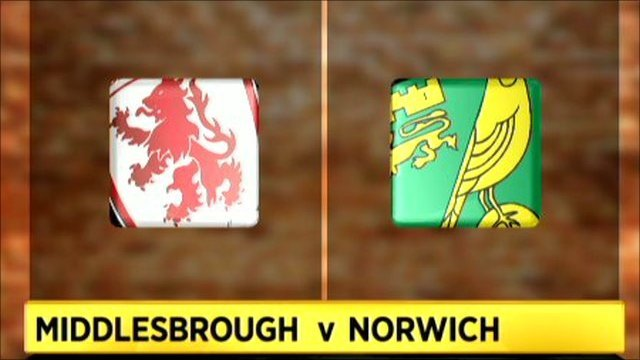 Highlights - Middlesbrough 1-1 Norwich