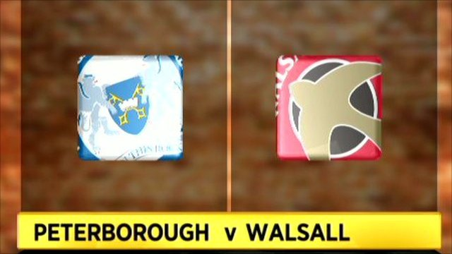 Peterborough 4-1 Walsall
