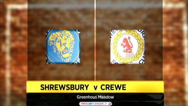 Shrewsbury 0-1 Crewe