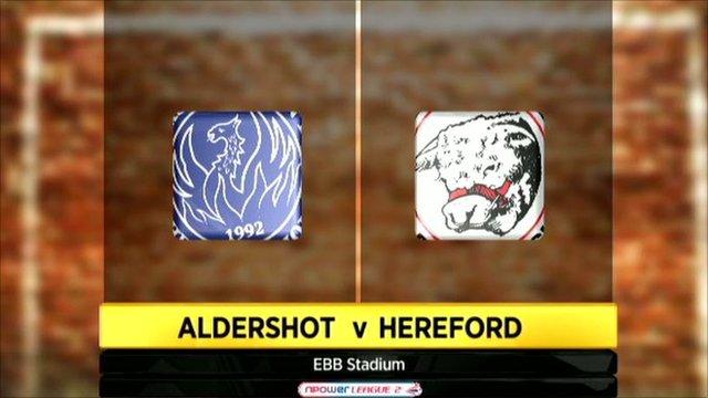 Aldershot 1-2 Hereford