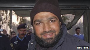 Malik Mumtaz Hussein Qadri, arrested in Islamabad (4 January 2011)