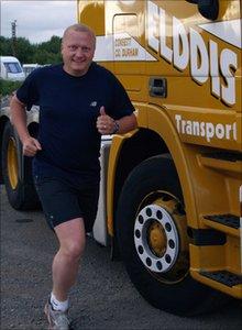 Nigel Cook training for the half marathons