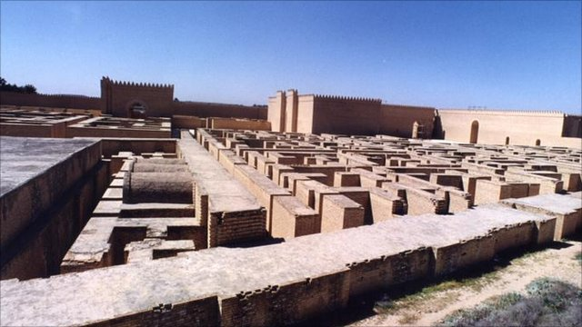 The ruins of the ancient city of Babylon