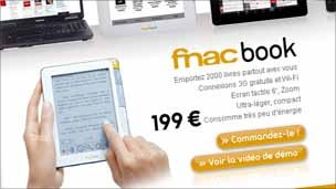Fnacbook ad on Fnac website (screen grab)
