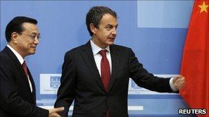 Prime Minister Zapatero and Vice President Li