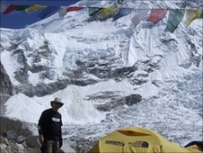 Steve Flory at Everest basecamp
