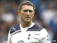 Robbie Keane playing for Tottenham