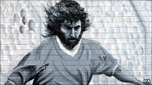 Former mural of George Best