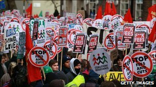Student protests against tuition fee rises