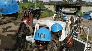 UN troops in Abidjan, 5 Jan