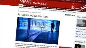 Crop of BBC News Magazine Good Samaritan feature