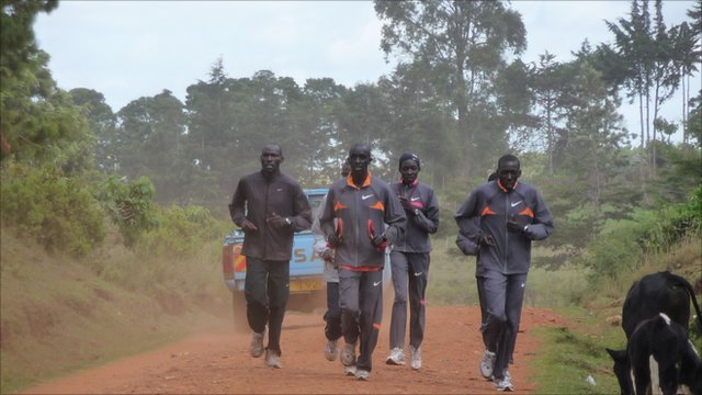 Long distance runners from Kenya