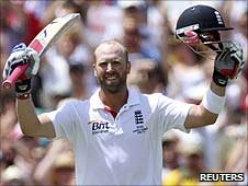 Matt Prior reaches his century