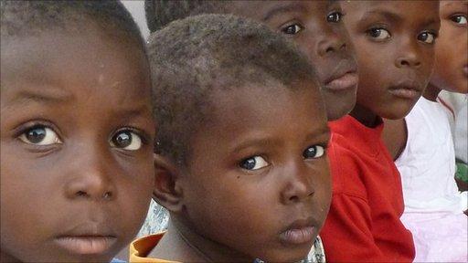 Boys at an orphanage in Port-au-Prince, Haiti