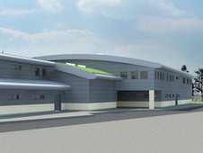 A virtual image of how the new venue which includes Woking Boxing Club will look.