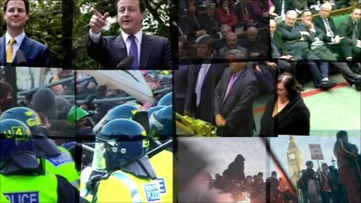 Poltical photos from 2010 montage