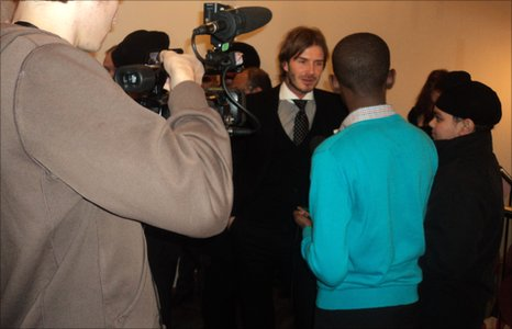 David Beckham is interviewed by the School Report team